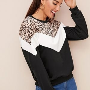 Shein Animal print pullover.  BRAND new